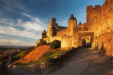 france - Medieval walled city of carcassonne, aude department, france Stock Photo - Premium Royalty-Free, Code: 614-06002494