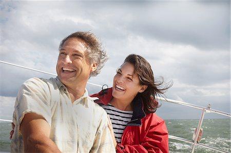 Mature couple sailing Stock Photo - Premium Royalty-Free, Code: 614-06002515