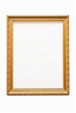 rectangle - Empty gold frame Stock Photo - Premium Royalty-Free, Code: 614-06044423
