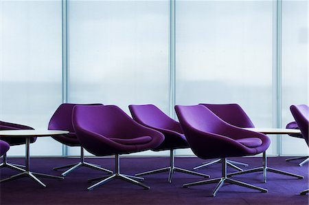 Purple armchairs in empty office block Stock Photo - Premium Royalty-Free, Code: 614-06044743