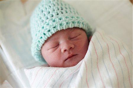 Newborn baby boy, asleep Stock Photo - Premium Royalty-Free, Code: 614-06043991
