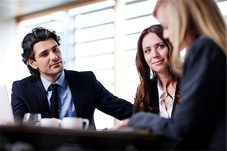 Business colleagues in discussion Stock Photo - Premium Royalty-Free, Code: 614-06168719