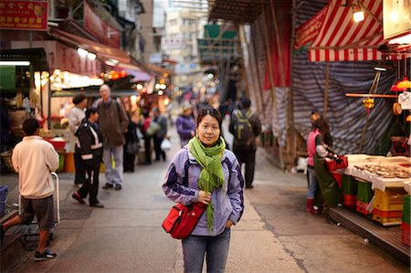 Portrait of woman in market, hong kong, china Stock Photo - Premium Royalty-Free, Code: 614-06168781