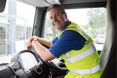 Truck driver, portrait Stock Photo - Premium Royalty-Free, Code: 614-06168796