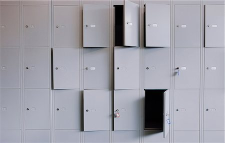 Locker doors full frame Stock Photo - Premium Royalty-Free, Code: 614-06169138