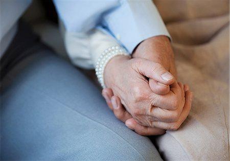 Senior couple holding hands Stock Photo - Premium Royalty-Free, Code: 614-06169257