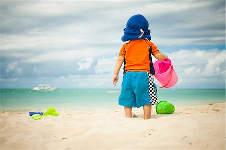 safety - Little boy at the beach Stock Photo - Premium Royalty-Free, Code: 614-06169424