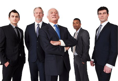 five people - Portrait of businessmen Stock Photo - Premium Royalty-Free, Code: 614-06311798