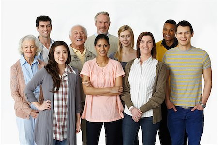 Portrait of group of people Stock Photo - Premium Royalty-Free, Code: 614-06311793