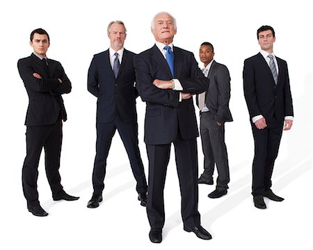 five - Portrait of businessmen Stock Photo - Premium Royalty-Free, Code: 614-06311804