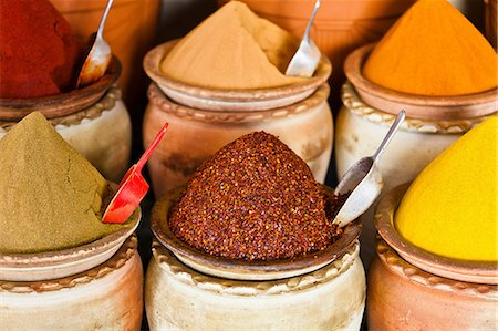 Spice market, Houmt Souk, Djerba, Tunisia Stock Photo - Premium Royalty-Free, Code: 614-06311827