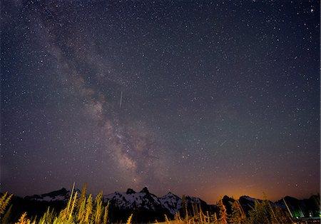space - The Milky Way over The Cascades, Washington, USA Stock Photo - Premium Royalty-Free, Code: 614-06311857