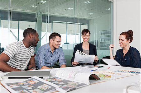 Colleagues planning during creative meeting Stock Photo - Premium Royalty-Free, Code: 614-06311950