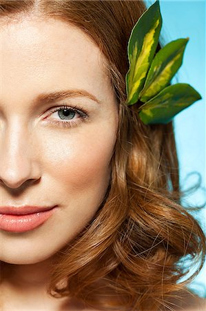 seductive - Woman with leaves in hair Stock Photo - Premium Royalty-Free, Code: 614-06312038