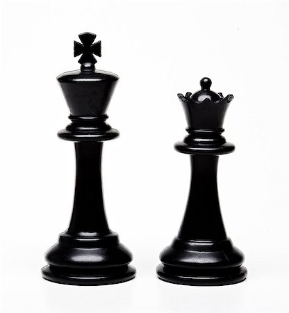 Chess king and queen pieces Stock Photo - Premium Royalty-Free, Code: 614-06336024