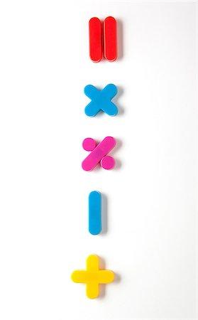 Mathematical symbol fridge magnets Stock Photo - Premium Royalty-Free, Code: 614-06336095
