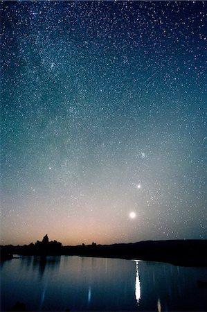 sky stars - Starry sky at night, mono lake, california, usa Stock Photo - Premium Royalty-Free, Code: 614-06336211