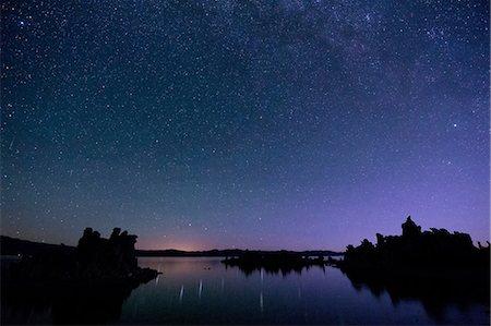 sky stars - Starry sky at night, mono lake, california, usa Stock Photo - Premium Royalty-Free, Code: 614-06336212