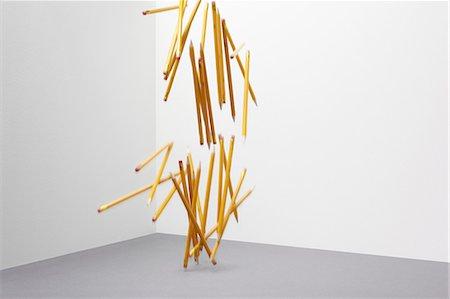 falling - Pencils falling Stock Photo - Premium Royalty-Free, Code: 614-06336413