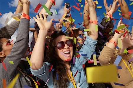 people falling - People cheering at a music festival Stock Photo - Premium Royalty-Free, Code: 614-06402709
