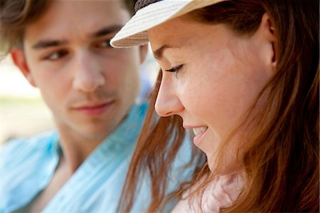 Young couple, close up Stock Photo - Premium Royalty-Free, Code: 614-06402834