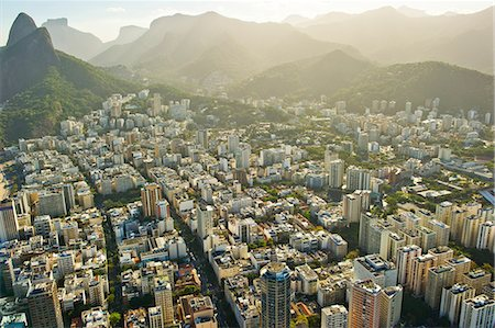 residential - Aerial view of districts of Rio de Janeiro, Brazil Stock Photo - Premium Royalty-Free, Code: 614-06403140