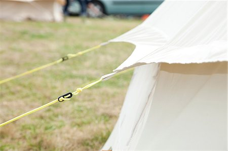 Detail of bell tent in camp site Stock Photo - Premium Royalty-Free, Code: 614-06442659