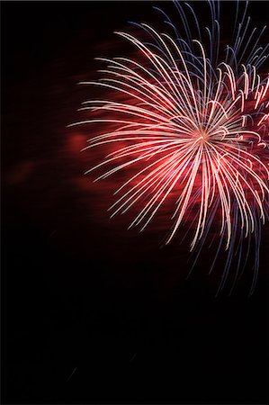 fireworks colored picture - Fireworks in night sky Stock Photo - Premium Royalty-Free, Code: 614-06442985