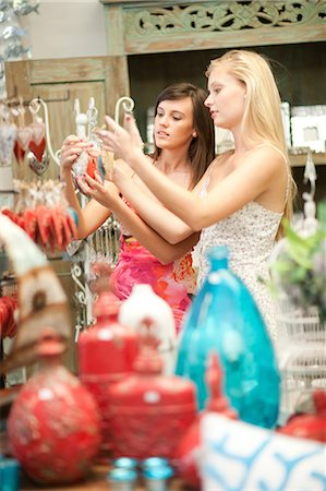 decorations - Woman shopping together in store Stock Photo - Premium Royalty-Free, Code: 614-06537061