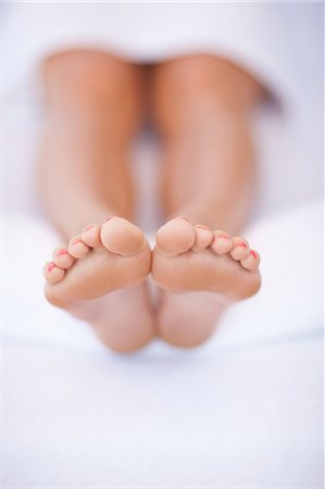 female feet close up - Close up of woman's feet Stock Photo - Premium Royalty-Free, Code: 614-06537333