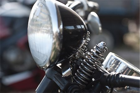 detail - Close up of motorcycle headlight Stock Photo - Premium Royalty-Free, Code: 614-06624105