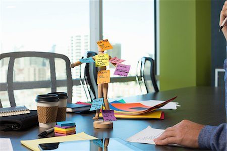 remembered - Wooden mannequin with sticky notes Stock Photo - Premium Royalty-Free, Code: 614-06624371