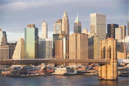 New York City skyline and bridge Stock Photo - Premium Royalty-Free, Code: 614-06624781