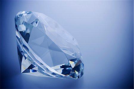 diamond - Close up of cut diamond Stock Photo - Premium Royalty-Free, Code: 614-06625041