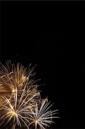 fireworks colored picture - Fireworks exploding in sky Stock Photo - Premium Royalty-Free, Code: 614-06625210
