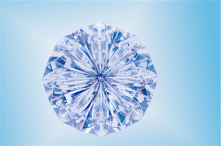 diamond - Close up of cut diamond Stock Photo - Premium Royalty-Free, Code: 614-06623468
