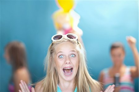 preteen open mouth - Teenage girl gasping Stock Photo - Premium Royalty-Free, Code: 614-06623487