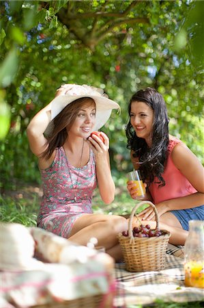 Women picnicking together in park Stock Photo - Premium Royalty-Free, Code: 614-06623583