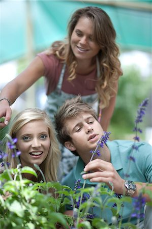 Couple shopping for plants in nursery Stock Photo - Premium Royalty-Free, Code: 614-06623716