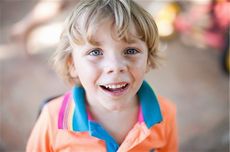 Close up of boy's smiling face Stock Photo - Premium Royalty-Free, Code: 614-06623781