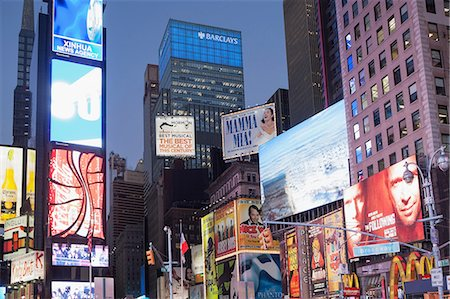 Illuminated billboards in Times Square Stock Photo - Premium Royalty-Free, Code: 614-06718508