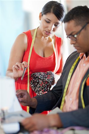 designer - Dressmakers working in studio Stock Photo - Premium Royalty-Free, Code: 614-06718516