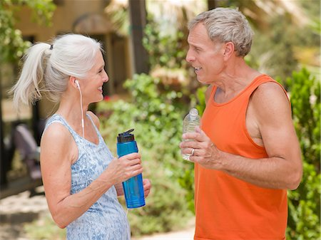Older couple working out together Stock Photo - Premium Royalty-Free, Code: 614-06718879