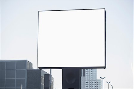 Blank billboard in city center Stock Photo - Premium Royalty-Free, Code: 614-06719014