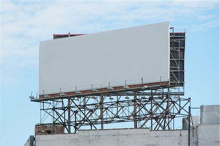 Blank billboard on roof of building Stock Photo - Premium Royalty-Free, Code: 614-06719128
