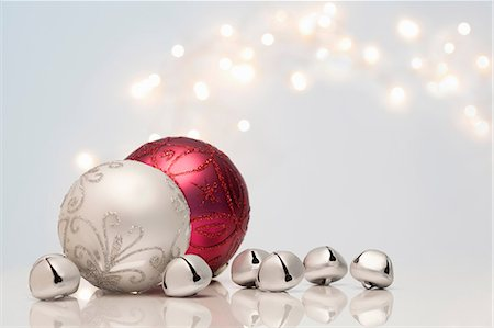 Christmas decorations and jingle bells Stock Photo - Premium Royalty-Free, Code: 614-06719266