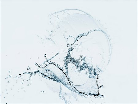 fresh - Water splashing in air Stock Photo - Premium Royalty-Free, Code: 614-06719532