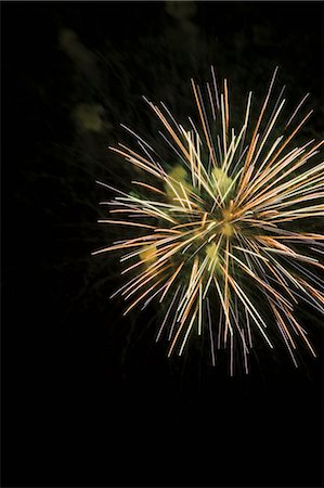 fireworks - Fireworks exploding in night sky Stock Photo - Premium Royalty-Free, Code: 614-06719755