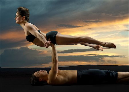 dependable - Mid adult couple performing modern dance Stock Photo - Premium Royalty-Free, Code: 614-06814282