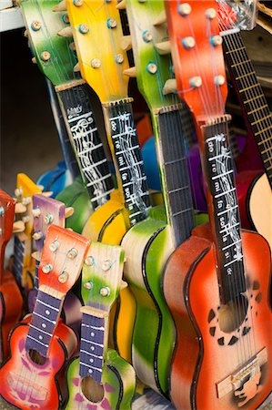 Colourful guitars for sale Stock Photo - Premium Royalty-Free, Code: 614-06813193